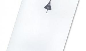 Concorde Menu