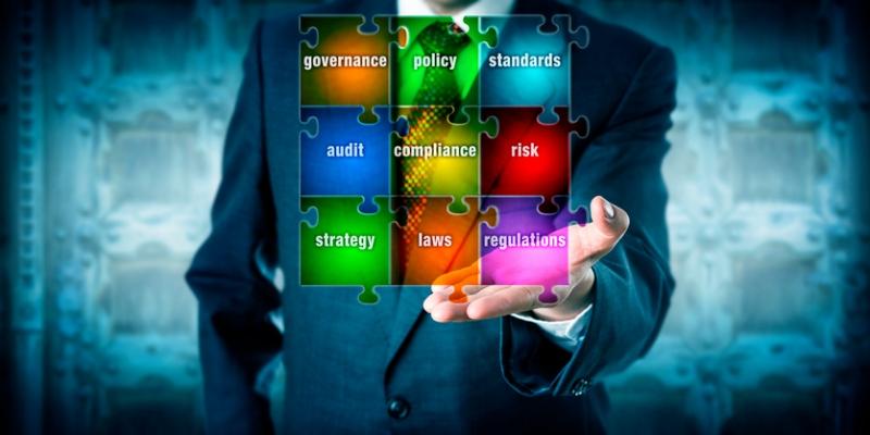 man presents virtual planning matrix